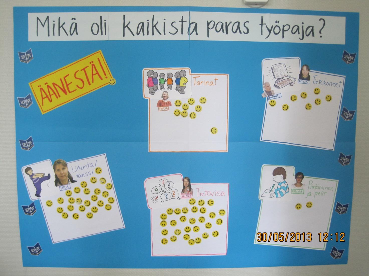 Opiskelijat äänestivät parhaaksi työpajaksi Tietovisan