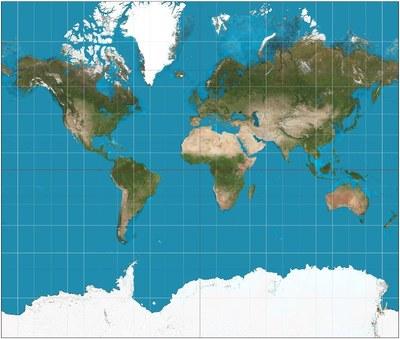 Mertala_kuva1: Mercatorin projektio