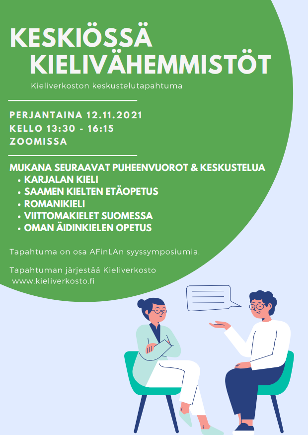 Keskiössä kielivähemmistöt -tapahtuman juliste